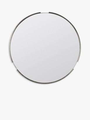 Unbranded Fitzroy Round Wood Frame Mirror, 80cm