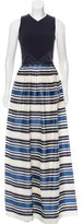 Theia Striped Maxi Dress w/ Tags