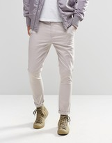 Asos Super Skinny Chinos In Light Grey