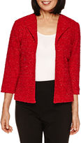 Alfred Dunner Wrap It Up 3/4 Sleeve Blazer - Petites