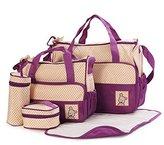 Moolecole 7 in 1 Mommy Tote Bag Travel Bag Diaper Bag Set