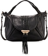 Kooba Sedona Braided Satchel Bag, Black
