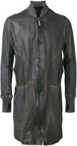 Isaac Sellam Experience - long bomber jacket - men - Lamb Skin - XL