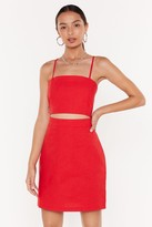 Nasty Gal Womens Searching For My Strappy Ending Mini Dress - Red - 6, Red