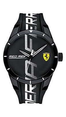 Ferrari Men's RedRev Quartz Plastic and Silicone Strap Casual Watch