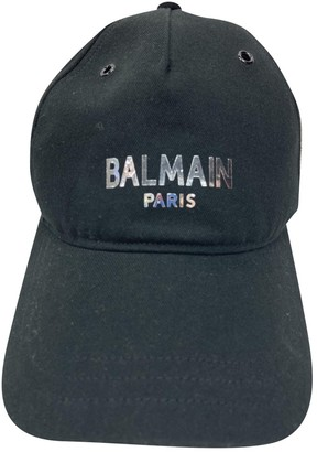 Balmain Black Cloth Hats & pull on hats