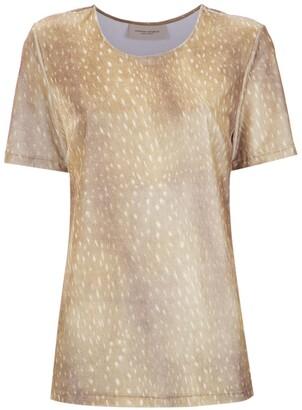 Adriana Degreas Printed Velvet Top