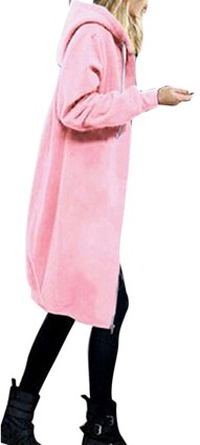 Goosun Women's Casual Zip up Hoodies Pockets Tunic Sweatshirt Long Hoodie Outerwear Jacket Dress Plus Size Loose Fit Zipper Open Hoodies Long Hoodie Jacket with Pockets Blue