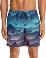 Sundek Waves and Palms Swim Trunks