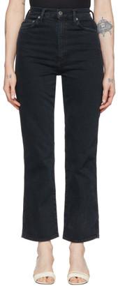 AGOLDE Black Pinch Waist Kick Jeans