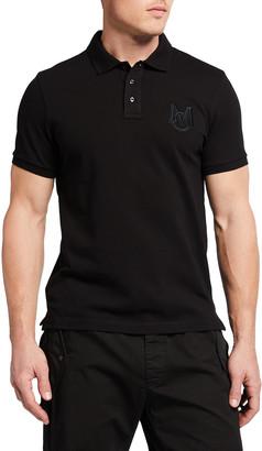Moncler Men's Polo Shirt with Tonal Logo