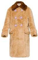Miu Miu Women's Beige Faux Leather Coat.