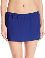 Athena Women's Cabana Solids A-Line Skirt Bikini Bottom