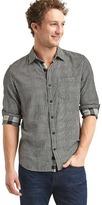 Gap Double-face gingham standard fit shirt