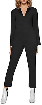 BCBGeneration Satin-Trim Tuxedo Jumpsuit
