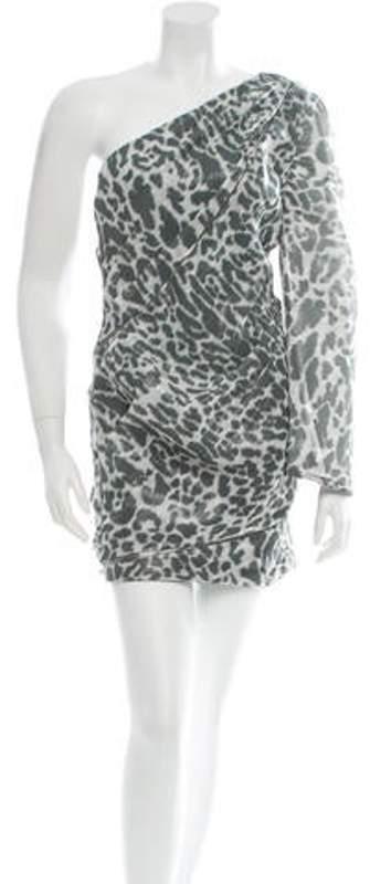 Jay Ahr One-Shoulder Dress w/ Tags Grey One-Shoulder Dress w/ Tags