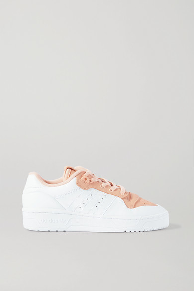 adidas Rivalry Low Two-tone Leather Sneakers - White