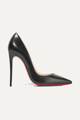 Christian Louboutin So Kate 120 Leather Pumps - Black