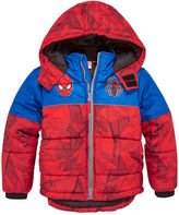 Asstd National Brand Boys Spiderman Heavyweight Puffer Jacket-Preschool