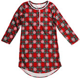 Dollie & Me Red Plaid Snowflake Nightgown - Girls