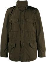 Aspesi high collar military jacket - men - Polyester/Polyamide - M