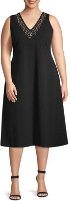 Calvin Klein Plus Embellished Fit-&-Flare Dress