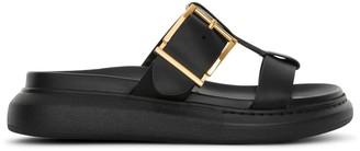 Alexander McQueen Black hybrid slide sandals