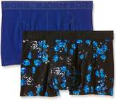 Bjorn Borg Men's Cursed Floral Pack of 2 Boxer Shorts