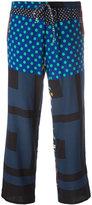 Pierre Louis Mascia Pierre-Louis Mascia - printed trousers - women - Silk/Spandex/Elastane - M