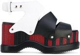 Proenza Schouler colour block platform sandals - women - Calf Leather/Leather/rubber - 37