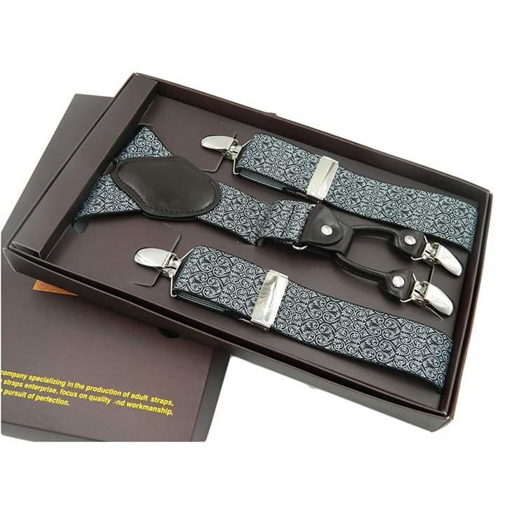 SupSuspen Mens Solid Y Shape Suspenders 1.4 Inch Heavy Duty Braces/&4 Metal Clips