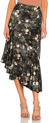 Vince Rose Field Tiered Skirt