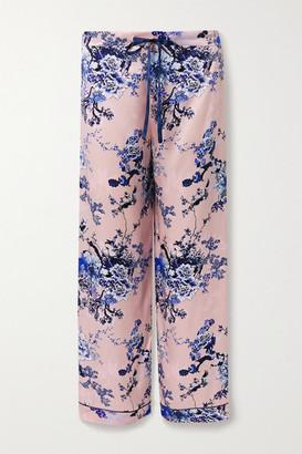 MENG Floral-print Silk-satin Pajama Pants - Pink
