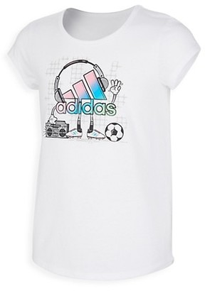 adidas Girl's Scoop-Neck Graphic T-Shirt