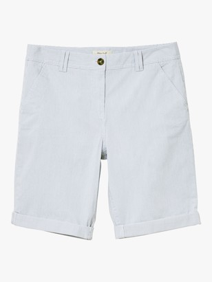White Stuff Helter Skelter Striped Chino Shorts, Blue