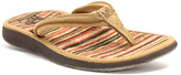 Lamo Chestnut Cork Sunburst Leather Flip-Flop - Women