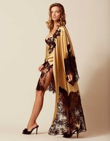 Agent Provocateur Nayeli Long Kimono Gold And Black