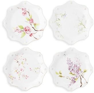 Juliska Berry & Thread Floral Sketch 4-Piece Dessert/Salad Plate Set