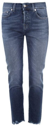 7 For All Mankind 7 Luxe Vintage Jeans With Destroyed Hem