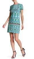 Maggy London Short Sleeve Printed Dress