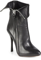 Jean-Michel Cazabat Fold-Over Leather Ankle Boots
