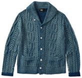 Ralph Lauren RRL Indigo Cotton Shawl Cardigan