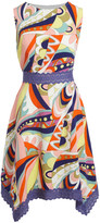 Amelia Women's Casual Dresses CORAL/MINT - Coral & Mint Abstract Sleeveless Belted Sidetail Dress - Women