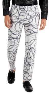 INC International Concepts Inc Men's Slim-Fit Chain Print Dress Pants, Created for Macy's