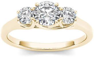 MODERN BRIDE 1 1/4 CT. T.W. Diamond 14K Yellow Gold 3-Stone Engagement Ring