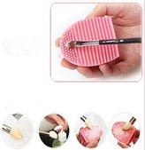 DZT1968® Silicone Gel Makeup Washing Brush Cleaner Egg Scrubber Tool (Pink)