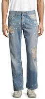 True Religion W Flaps Mega T Straight Fit Jeans