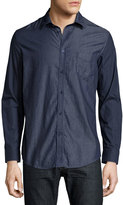 Diesel Chambray Sport Shirt, Midnight Blue