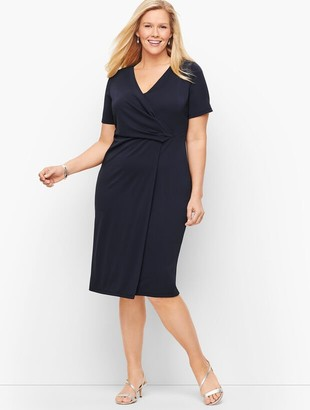 Talbots Knit Jersey Faux Wrap Dress