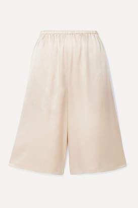Vince Silk-satin Shorts - Blush